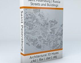Saint Petersburg Streets and Buildings 3D