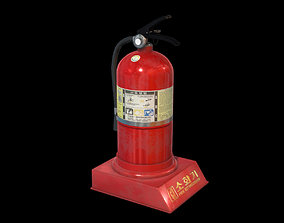 3D asset animated game-ready Fire Extinguisher