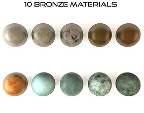 3D asset 10 Bronze Material Shaders for Cinema4d