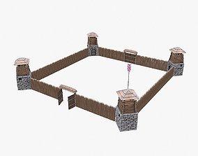 3D asset VR / AR ready Fort NorthAmerica