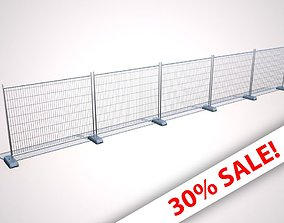 Wire Fence 3D asset