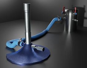 3D model Bunsen Burner and Gas Nozzle