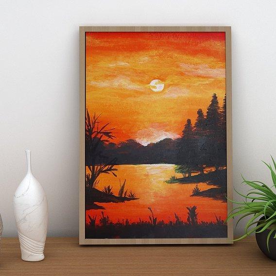 sunset paint