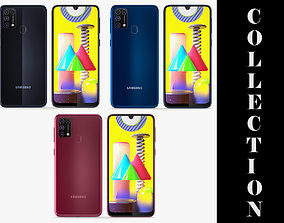 3D model Samsung Galaxy M31 3 Colors