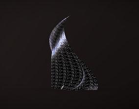 Post-apocalyptic skyscraper Night windows 3D