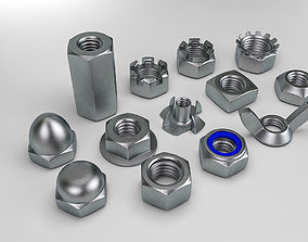 Nuts Collection 3D model