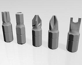 3D Screwdriver Screw Heads 01