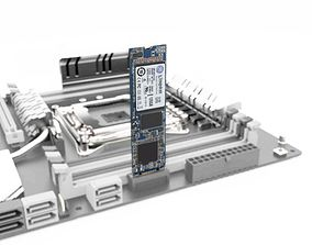 Kingston M 2 SSD 3D model