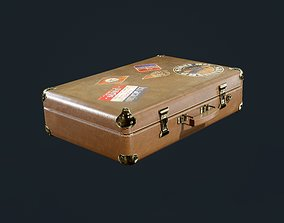 3D asset Leather Suitcase Luggage Travel Hotel Game Ready