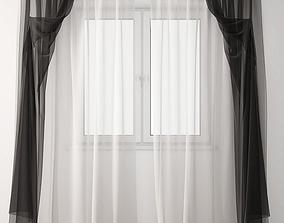 3D model Curtain white