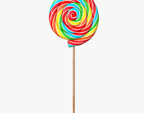 Swirl lollipop 3D model
