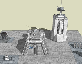 STAR WARS Imperial military base 3D