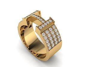 3D printable model Hermes ring h ring diamond