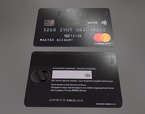 3D model PBR Credit Card