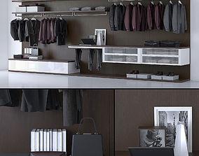 Wardrobe 3D asset low-poly