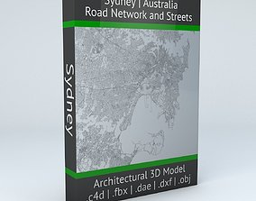 3D model Sydney Road Network and Streets