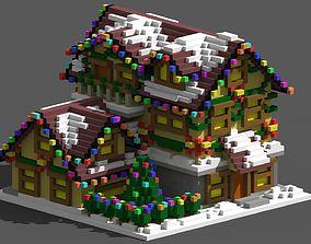 Xmas House Voxel - 5 3D model