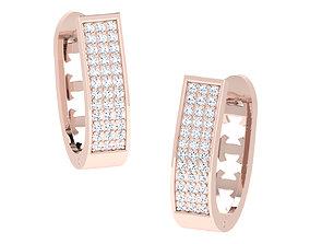 Women hoop huggie Earrings 3