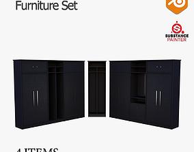 Red N Black Furniture Set Vol 03 3D model