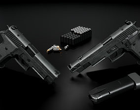 Sig Sauer P226 MK25 9MM Handgun 3D model low-poly