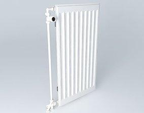 3D model H720 L390 steel radiator one blade