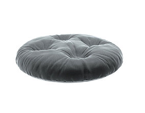 3D model Round pillow round seat pet seat button