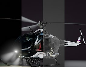 High quality and fully detailed Helicopter in 4 3D model