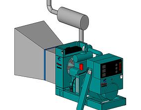 3D model MOTOGENERADOR ONAN