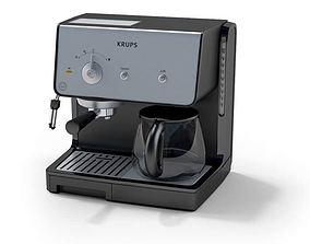 3D model Dual Coffee Espresso Machine