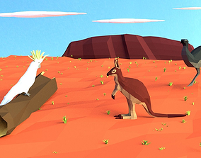 3D asset AUSTRALIAN NATIVE ANIMALS