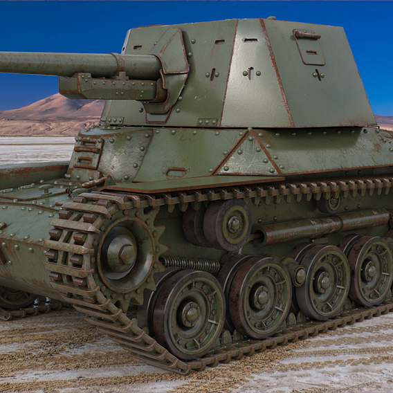 Tank Type 3 Ho Ni III Japan Vray