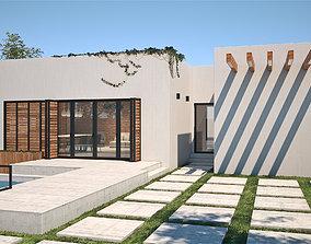 3D model Exterior House Scene 4 - White Villa