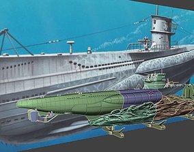 Submarine U Boot Typ VIIC 3D print model