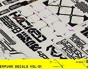 Cyberpunk Decals Vol-01 3D