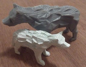 3D print model Low Poly DireWolf - Game of Thrones