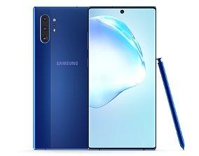 3D model Samsung Galaxy Note 10 Plus Aura Blue