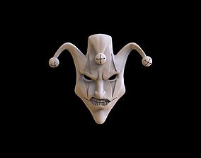 Mask face jester joker relief 3D print model