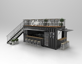 Container Cafe 3D cargo