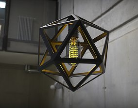 3D print model Icosahedron Lamp D250 mm