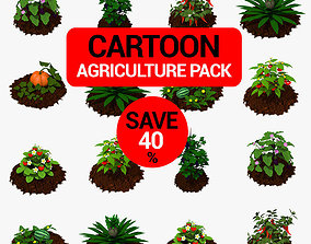Cartoon Agriculture Pack 3D model