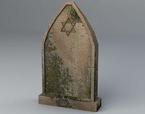 Jewish Gravestone Low Poly 3D asset