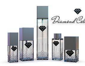 Diamond Collection cosmetics bottles 3D