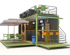 3d 3D Container cafe