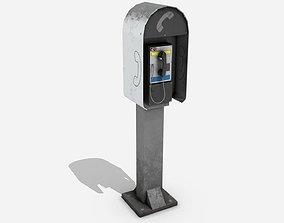 Street Assets - Phone Booth 3D model