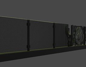 3D model chain-link fences