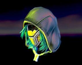 Sci-fi hood mask 3D asset