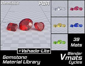 VMATS Gemstone Material Library for Blender 3D model