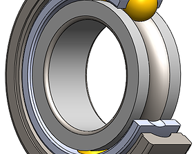 3D print model Ball bearing with a full cage