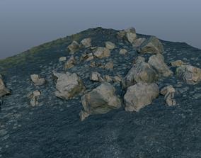 3D asset Rocky Terrain