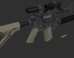 M4A1 Carbine 3D model realtime